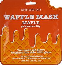 """Parfumuri și produse cosmetice Mască de față """"Sirop de arțar"""" - Kocostar Maple Waffle Mask"""