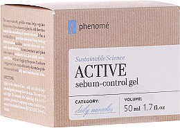 Parfumuri și produse cosmetice Cremă-gel cu acid hialuronic - Phenome Sustainable Science Active Sebum-Control Gel