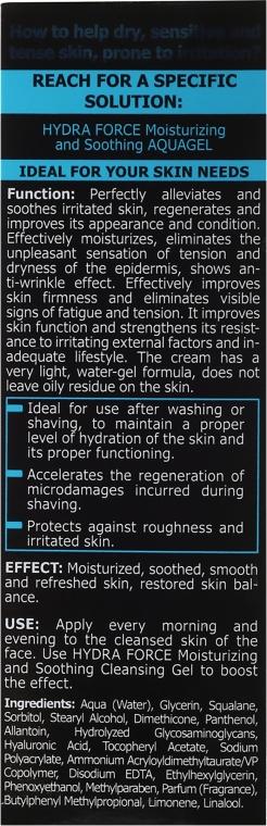Gel hidratant pentru ten - Bielenda Only For Man Hydra Force Hialuron Face AquaGel — Imagine N3