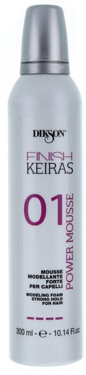 Spumă de păr, fixare puternică - Dikson Finish Keiras Modeling Foam Strong Hold For Hair — Imagine N1