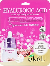 Parfumuri și produse cosmetice Mască de țesut cu acid hialuronic - Ekel Hyaluronic Acid Ultra Hydrating Essence Mask