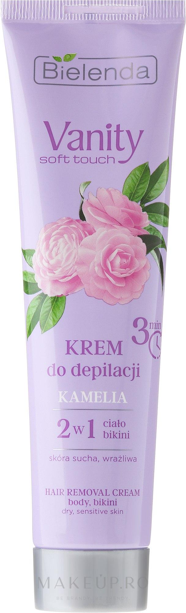 """Cremă pentru epilat """"Camellia"""" - Bielenda Vanity Soft Touch Kamelia — Imagine 100 ml"""