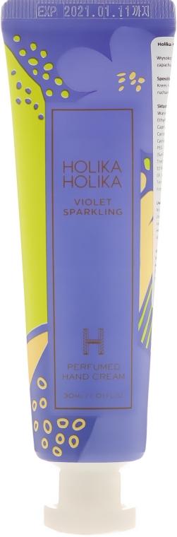 "Cremă de mâini ""Violete"" - Holika Holika Violet Sparkling Perfumed Hand Cream — Imagine N1"