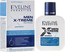Parfumuri și produse cosmetice Balsam relaxant după bărbierit 6 în 1 - Eveline Cosmetics Men Extreme Sensitive