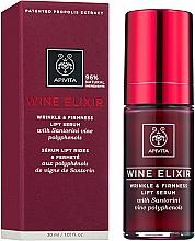 Parfumuri și produse cosmetice Ser-lifting antirid cu polifenoli de Vin Santorini - Apivita Wine Elixir Wrinkle And Firmness Lift Serum
