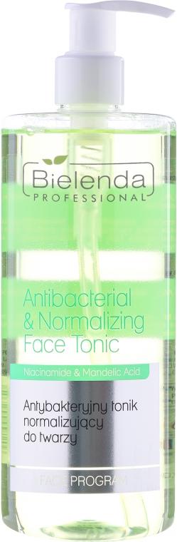 Tonic Antibacterian și normalizator pentru față - Bielenda Professional Face Program Antibacterial & Normalizing Face Tonic