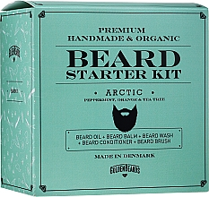 Parfumuri și produse cosmetice Set - Golden Beards Starter Beard Kit Arctic (balm/60ml + oil/30ml + shm/100ml + cond/100ml + brush)