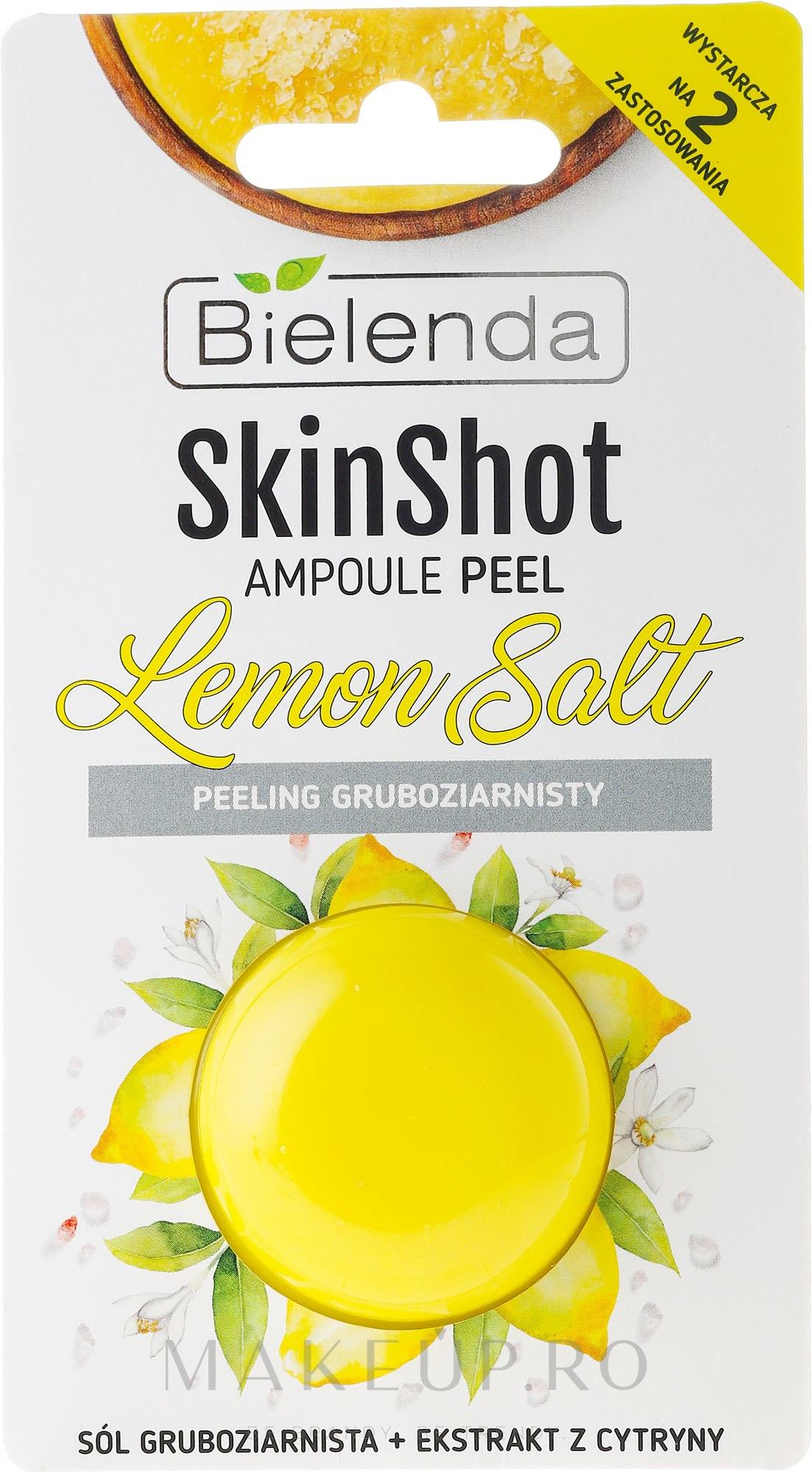 Scrub pentru față - Bielenda Skin Shot Backing Lemon Salt — Imagine 8 g