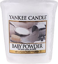 Parfumuri și produse cosmetice Lumânare aromată - Yankee Candle Scented Votive Baby Powder