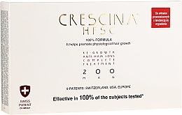 Parfumuri și produse cosmetice Fiole pentru căderea și stimularea creșterii părului 200, pentru bărbați - Crescina Re-Growth HFSC 100% + Crescina Anti-Hair Loss HSSC