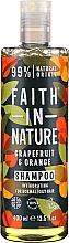 """Parfumuri și produse cosmetice Șampon pentru păr normal și gras """"Grapefruit și portocală"""" - Faith In Nature Grapefruit & Orange Shampoo"""