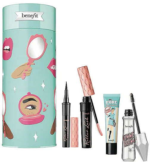 Set - Benefit Party Curl Set (br/gel/3g + mascara/8.5g + f/primer/22ml + eyeliner/0.5ml) — Imagine N1
