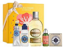 Parfumuri și produse cosmetice Set - L'Occitane Best Seller (h/cr/30ml + b/lot/75ml + sh/oil/250ml + shamp/35ml + h/soap/100g)