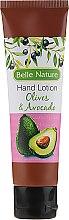 Parfumuri și produse cosmetice Balsam- cremă de mâini cu aromă de măsline și avocado - Belle Nature Hand Lotion Olives&Avocado