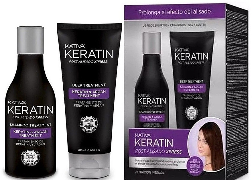 Set - Kativa Keratin (shm/250ml + cond/200ml) — Imagine N1
