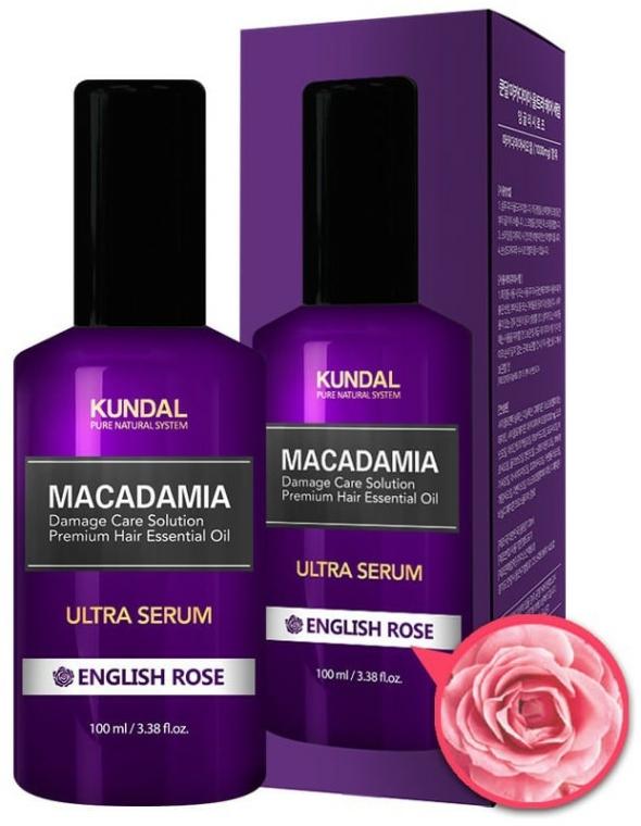 "Ser pentru păr ""Trandafir englez"" - Kundal Macadamia English Rose Ultra Serum — Imagine N1"
