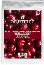 "Parfumuri și produse cosmetice Mască pentru zona ochilor ""Cireș japonez"" - Orientana Eye Silk Pad Japanese Cherry"