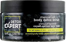 Parfumuri și produse cosmetice Scrub-detox de sare cu cărbune pentru corp, toate tipurile de piele - Detox Expert Charcoal Salt Body Detox Scrub