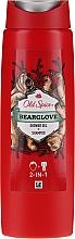 Parfumuri și produse cosmetice Șampon-gel pentru duș 2in1 - Old Spice Bearglove Shower Gel + Shampoo