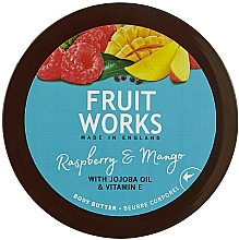 """Parfumuri și produse cosmetice Ulei de corp """"Zmeură și Mango"""" - Grace Cole Fruit Works Body Butter Raspberry & Mango"""