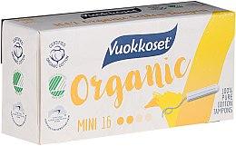 Parfumuri și produse cosmetice Mini tampoane organice fără aplicator, 16 bucăți - Vuokkoset Organic Mini Tampons