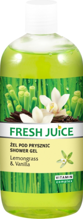 "Gel de duș ""Lemongrass și vanilie"" - Fresh Juice Sexy Mix Lemongrass & Vanilla"