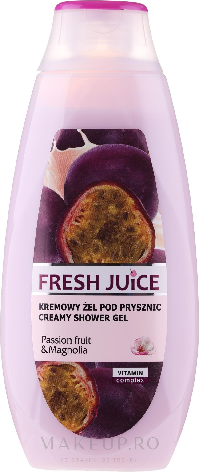 """Gel-cremă de duș """"Maracuya Juice and Magnolia"""" - Fresh Juice Creamy Shower Gel Passion Fruit & Magnolia — Imagine 400 ml"""