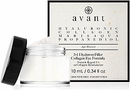 Parfumuri și produse cosmetice Cremă 3 în 1 cu acid hialuronic pentru pielea din jurul ochilor - Avant Skincare 3-1 Hyaluron-Filler Collagen Eye Formula