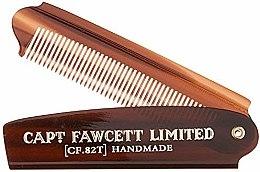 Parfumuri și produse cosmetice Pieptene pliabil pentru barbă, CF82T - Captain Fawcett Folding Pocket Beard Comb