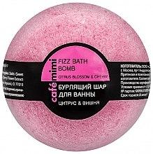 """Parfumuri și produse cosmetice Bilă efervescentă de baie """"Citrice și cireșe"""" - Cafe Mimi Bubble Ball Bath"""