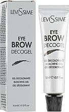 Parfumuri și produse cosmetice Gel decolorant pentru sprâncene - LeviSsime Eye Brow Decogel