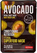 Parfumuri și produse cosmetice Mască nutritivă pe bază de avocado pentru față - Dermal It's Real Superfood Avocado Facial Mask
