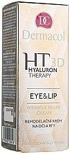 Parfumuri și produse cosmetice Cremă cu acid hialuronic pur pentru ochi și buze - Dermacol Hyaluron Therapy 3D Eye and Lip Wrinkle Filler Cream