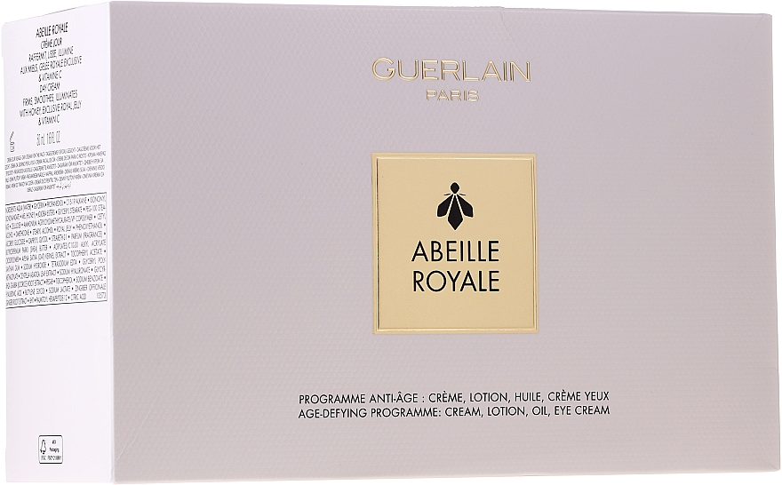 Set - Guerlain Abeille Royale Age-Defying Programme (f/oil/5ml + f/lot/40ml + f/d/cr/50ml + eye/cr/3ml + bag) — Imagine N1