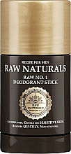 Parfumuri și produse cosmetice Deodorant stick - Recipe For Men RAW Naturals No. 1 Deodorant Stick