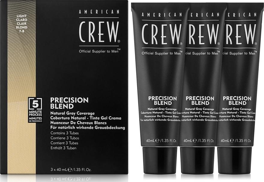 Sistem de mascare a părului cărunt (nivel 7-8) 3x40 ml - American Crew Precision Blend Light — Imagine N1