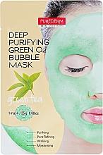"""Parfumuri și produse cosmetice Mască purificatoare """"Ceai verde"""" - Purederm Deep Purifying Green O2 Bubble Mask Green Tea"""