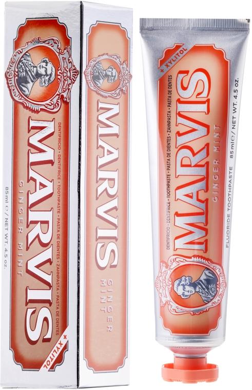 """Pastă de dinți cu xylitol """"Ghimbir și mentă"""" - Marvis Ginger Mint + Xylitol"""