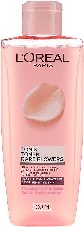 Tonic de curățare pentru pielea uscată și sensibilă - L'Oreal Paris Rare Flowers Tonic Dry and Sensative Skin