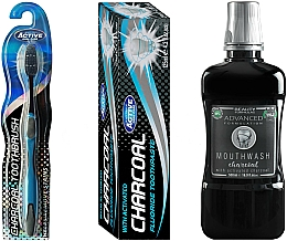 Parfumuri și produse cosmetice Set - Beauty Formulas Charcoal (mouthwash/500ml + toothbrush/1pcs + toothpaste/125g)
