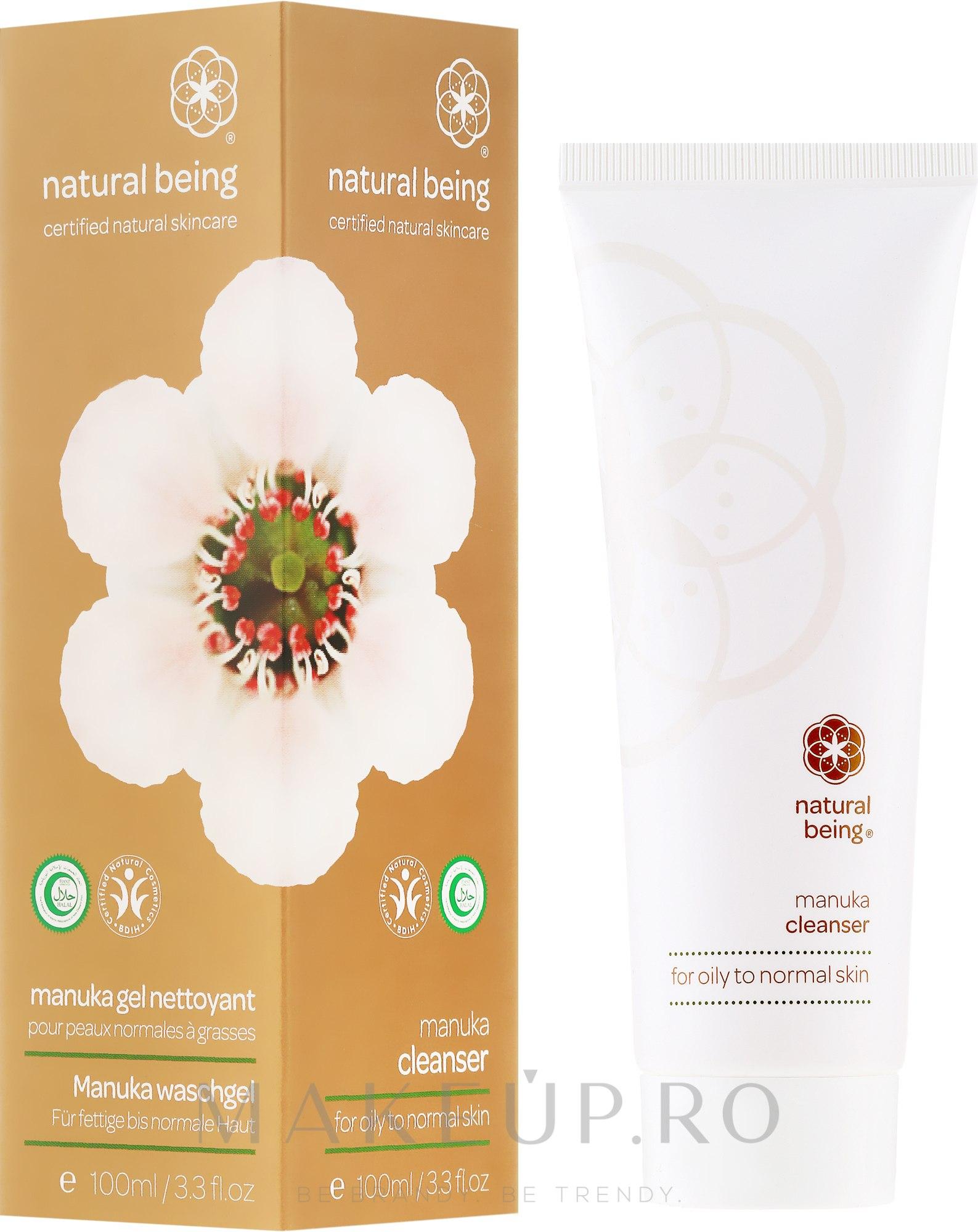 Gel de curățare pentru pielea normală și grasă - Natural Being Manuka Cleanser — Imagine 100 ml