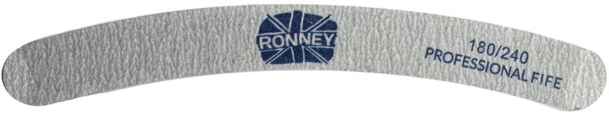 """Pilă de unghii, 180/240, gri, """"RN 00247"""" - Ronney Professional — Imagine N1"""