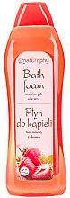"""Parfumuri și produse cosmetice Spumă de baie """"Căpșună și Aloe"""" - Bluxcosmetics Naturaphy Strawberry & Aloe Vera Bath Foam"""