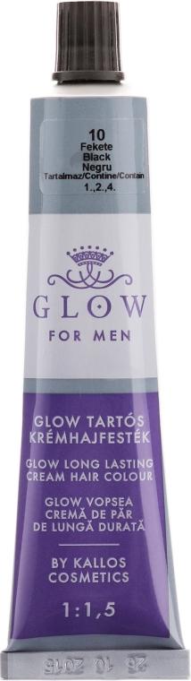 Vopsea de păr - Kallos Cosmetics Glow Long Lasting Cream Hair Colour Man — Imagine N2