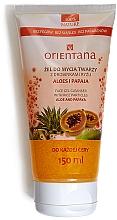 """Parfumuri și produse cosmetice Gel de duș """"Aloe vera și Papaya"""" - Orientana Face Gel Cleanser"""