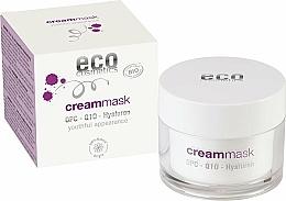 Parfumuri și produse cosmetice Cremă-mască cu hialuron pentru față - Eco Cosmetics Cream Mask With OPC Q10 & Hyaluron