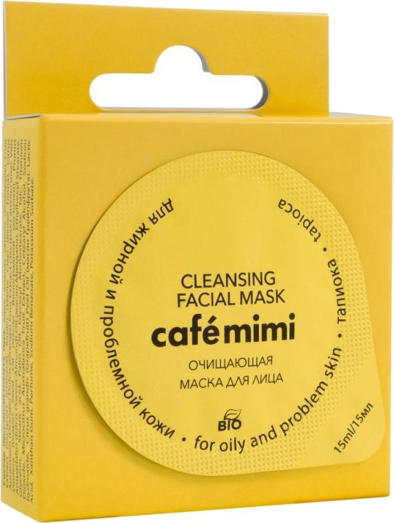 """Mască de curățare pentru ten gras și problematic """"Tapioca"""" - Cafe Mimi Cleansing Mask"""