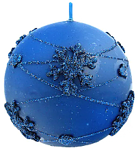 Parfumuri și produse cosmetice Lumânare decorativă, bilă albastră, 10 cm - Artman Snowflake Application
