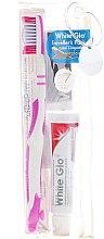 Parfumuri și produse cosmetice Set pentru ingiena orală - White Glo Travel Pack (t/paste/24g + t/brush/1 + t/pick/8)