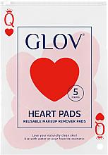 Parfumuri și produse cosmetice Discuri cosmetice pentru îndepărtarea machiajului - Glov Heart Pads